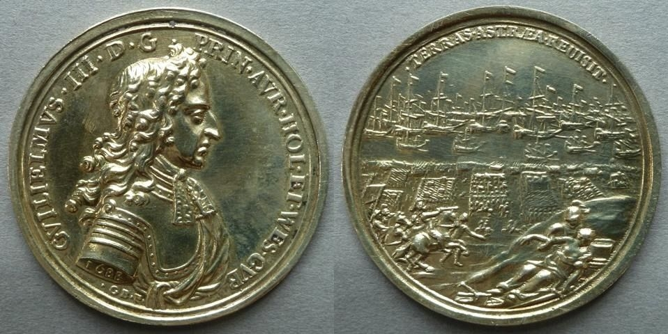 Medal commemorating the Landing of William III at Torbay