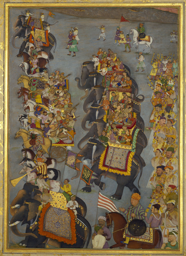Master: The Padshahnama Item: The Delivery of presents for Prince Dara-Shikoh's wedding (November-December 1632)