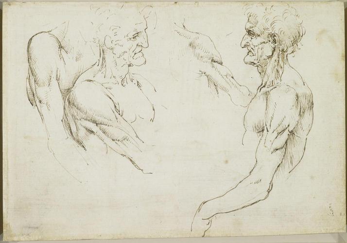 Leonardo da Vinci (Vinci 1452-Amboise 1519) - Recto: The bones of ...