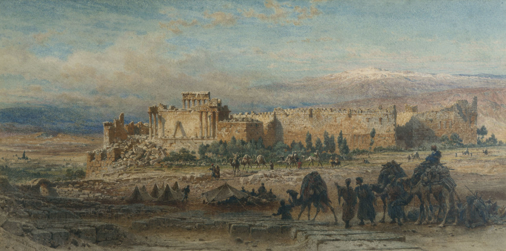 Encampment of the Prince of Wales at Baalbeck, 1862