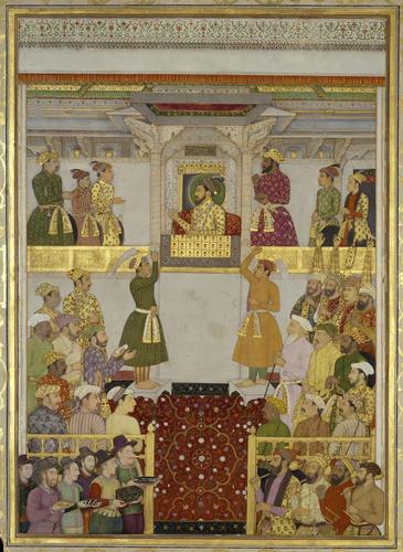 Master: The Padshahnama Item: Europeans bring gifts to Shah-Jahan (July 1633)