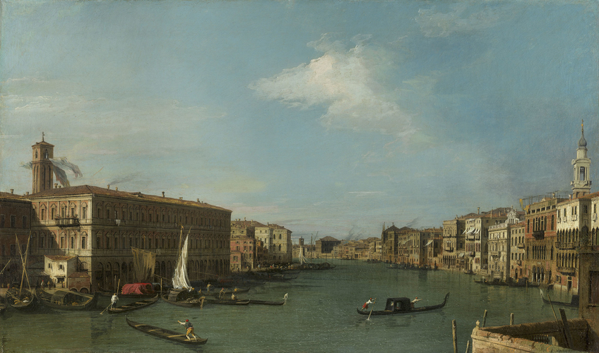 The Grand Canal looking North-West from near the Rialto