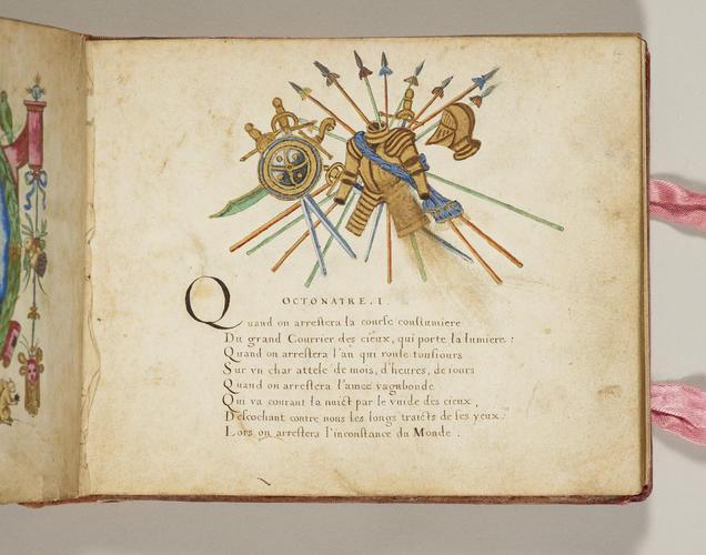 Cinquante octonaires sur la va [sic] vanite et inconstance du monde : dediez a Monsieur le Prince pour ses estrennes de l'an 1607 / escrit et illumine par moy Esther Inglis