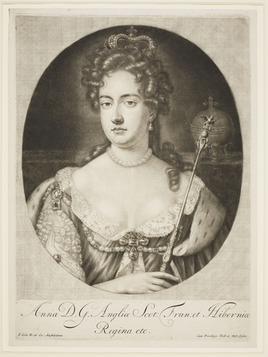 Anne D. G. Angliae Scot: Fran: et Hiberniae Regina etc