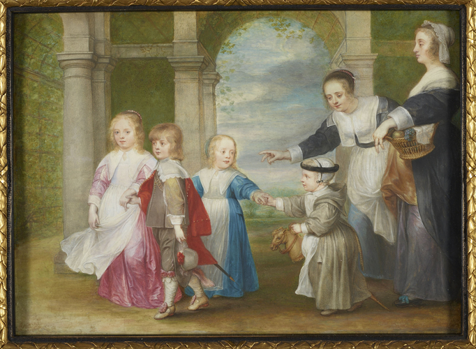 Four Children of Peter Paul Rubens and Helena Fourment with Two Maids