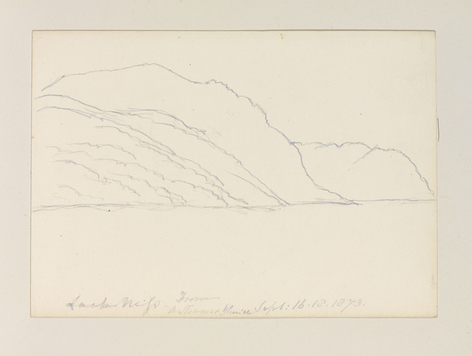 Master: Queen Victoria's Sketches Vol. II (1872-1892) Item: Loch Ness from the steamer