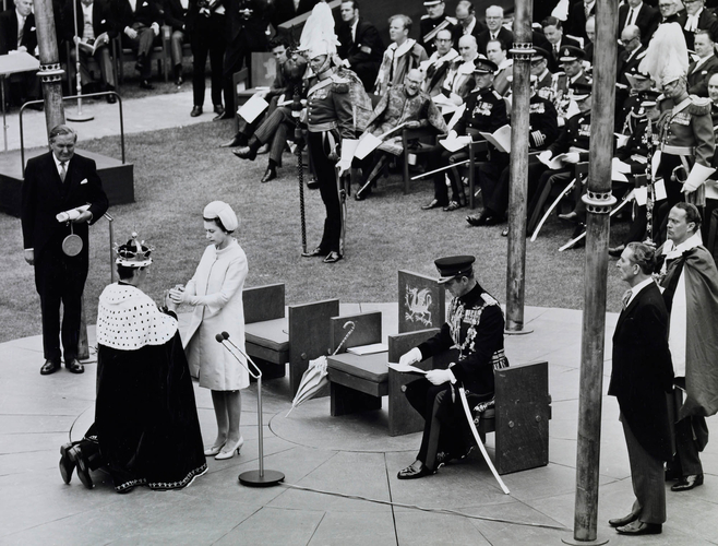 The Investiture of HRH The Prince of Wales at Caernarfon Castle, 1st July 1969