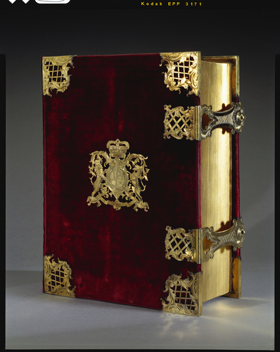 Coronation Bible, with prayer book and psalter, used by King George III