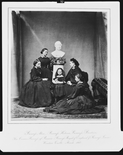 The royal children in mourning