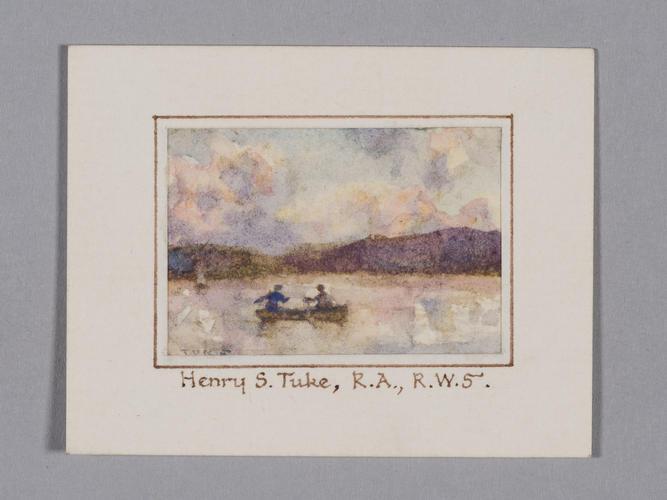 Two men in rowing boat