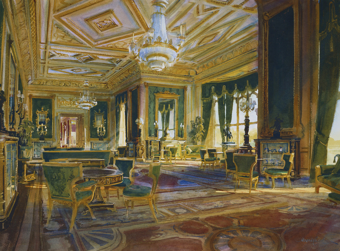 Windsor Castle: the Green Drawing Room, after restoration