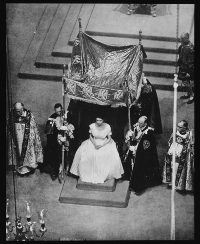 The Coronation, 1953 - seated underneath the canopy