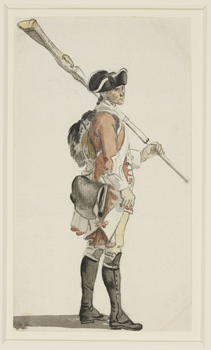 A foot soldier with a musket