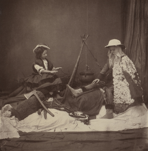 Princess Louise and Albert Edward, Prince of Wales as 'Winter'