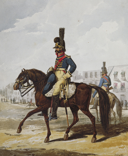 Portuguese Army. Vavalry Police Guard of Lisbon, 1812