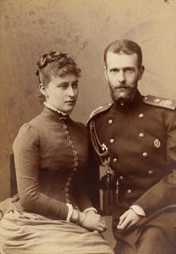 RUSSIA GRAND DUCHESS ELIZABETH FEODOROVNA PRINT.GRAND DUKE SERGEI ALEXANDROVICH