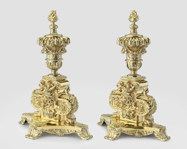 Master: Pair of andirons