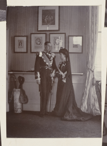 Master: Photographs of Queen Alexandra, and Princess Maud, February 1901 Item: Princess Maud and Prince Carl of Denmark, later King Haakon VII and Queen Maud of Norway