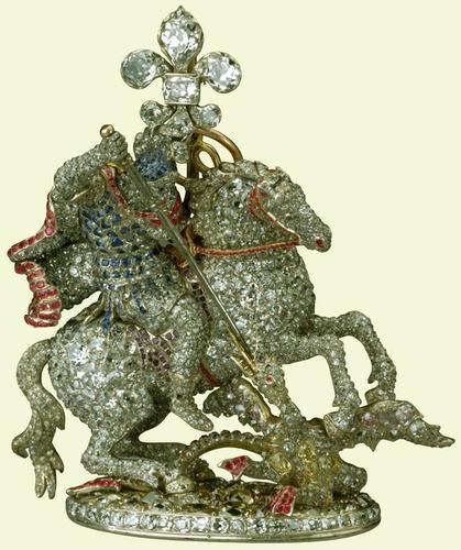 Order of the Garter (England). George III's collar badge (Great George)