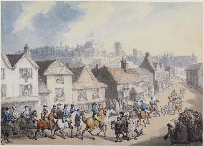 King George III returning from hunting through Eton