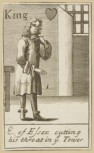Master: Rye House Plot: playing cards. Item: Rye House Plot playing cards: King of Hearts