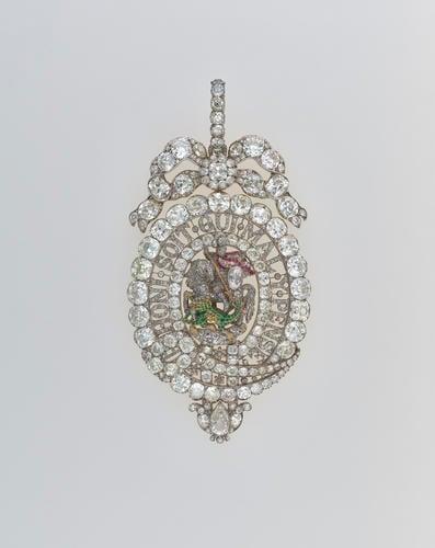 Order of the Garter (England). George IV's sash badge (Lesser George)
