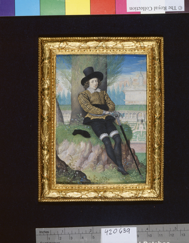 A Young Man Seated Under a Tree