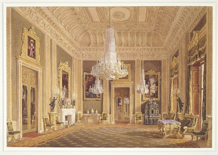 Buckingham Palace: The Green Drawing Room