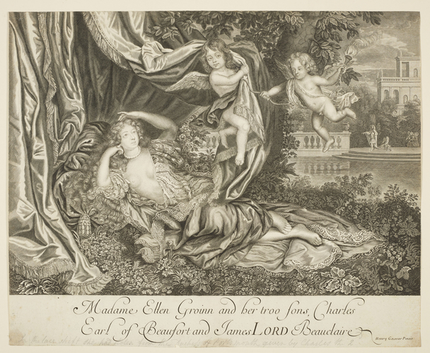 Madame Ellen Gronin and her troo Sons, Charles Earl of Beaufort and James LORD Beauclaire