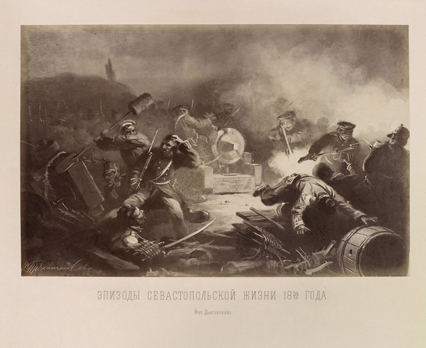 Scene au Kamtchatka, 1870's [in Album de Photographies de Tableaux Representant Divers Episodes de la Vie de Sebastopol en 1854 & 1855]