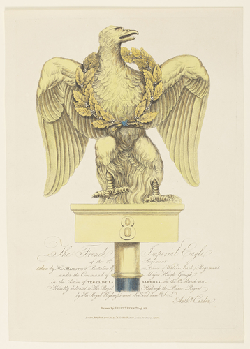 French Imperial Eagle of the Eighth regiment taken at Barrosa. 	5 March 1811