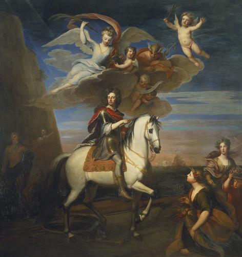 William III (1650-1702) on horseback