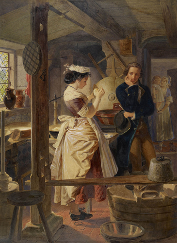 Hetty Sorrel and Captain Donnithorne in Mrs Poyser's dairy