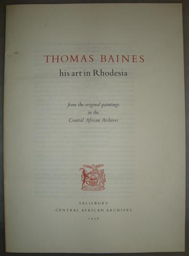 Master: Thomas Baines: his art in Rhodesia Item: Thomas Baines, his art in Rhodesia: booklet