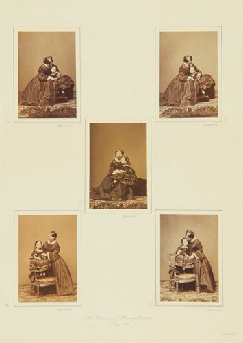 The Queen and Princess Beatrice, May 1860 [in Portraits of Royal Children Vol. 5 1860-1861]