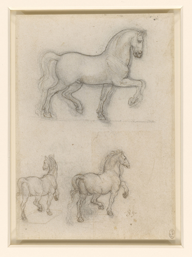 Recto: Studies for an equestrian monument. Verso: Studies for an equestrian monument