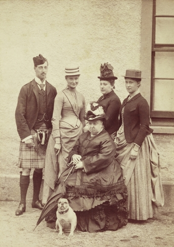 Family group with Queen Victoria and a pug, Balmoral