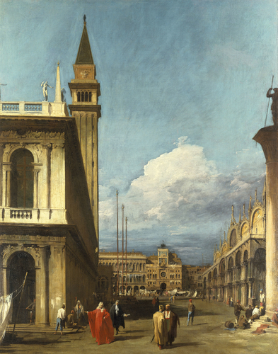 The Piazzetta looking North towards the Torre dell?Orologio
