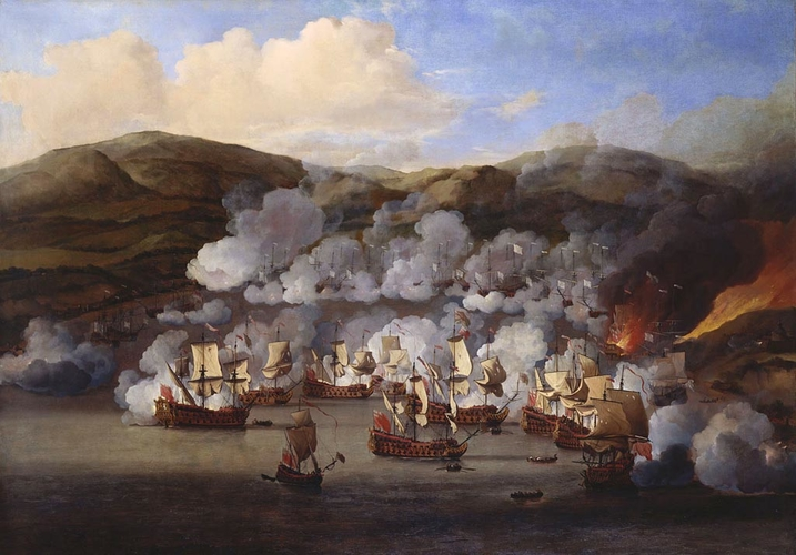 The Attack on the French Ships at Martinique, 6th July 1667