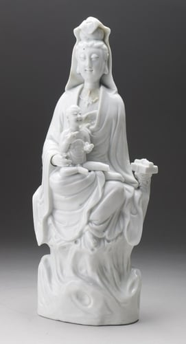 Master: Pair of figures of Guanyin with an infant Item: Guanyin with a Child
