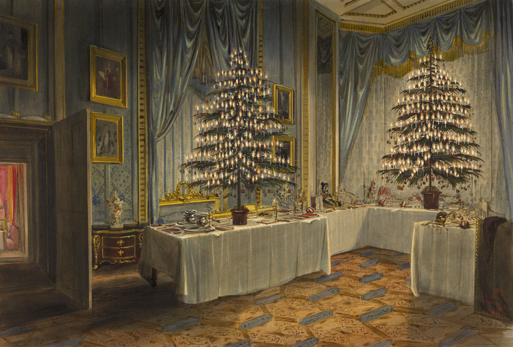 Christmas trees of the Duchess of Kent and the royal children at Windsor Castle, 1850