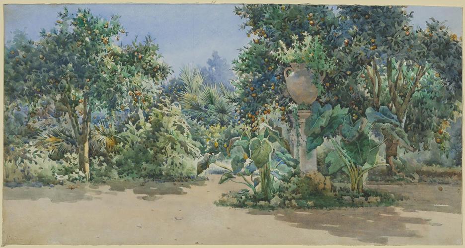 Garden in Greece or Corfu