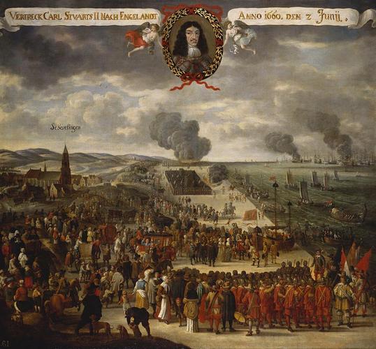 The Departure of Charles II (1630-1685) from Scheveningen