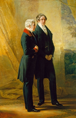 Arthur Wellesley, 1st Duke of Wellington (1796-1852), with Sir Robert Peel (1788-1850)