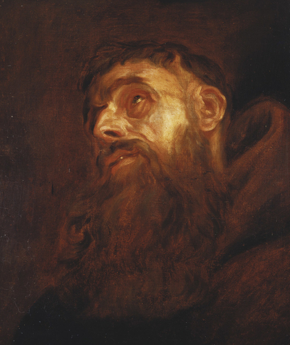 Head of a Bearded Saint or Monk