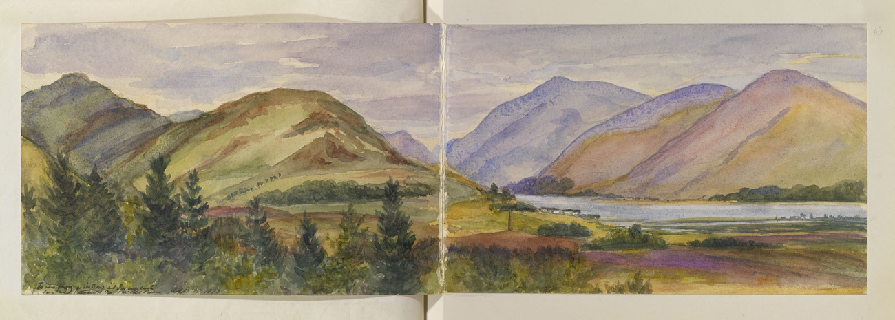 Master: Queen Victoria's Sketches Vol. II (1872-1892) Item: From my window at Inverlochy looking towards Fort William