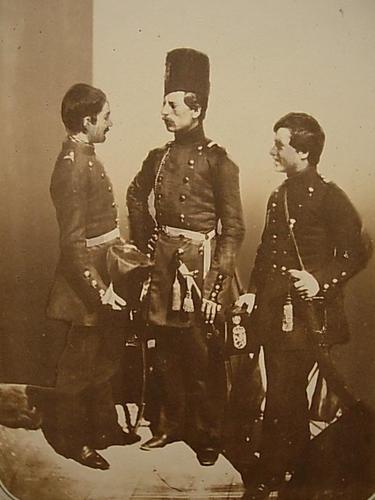 Three volunteer Russian soldiers from Bulgaria