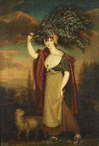 A Country Woman Carrying Holly