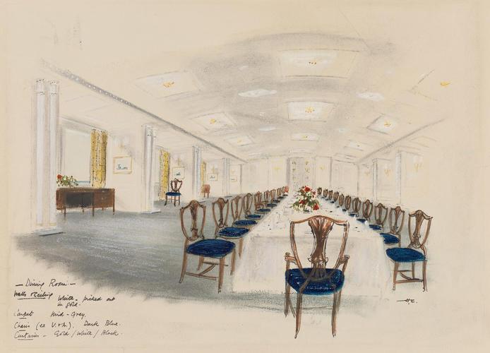 HMY Britannia: dining room