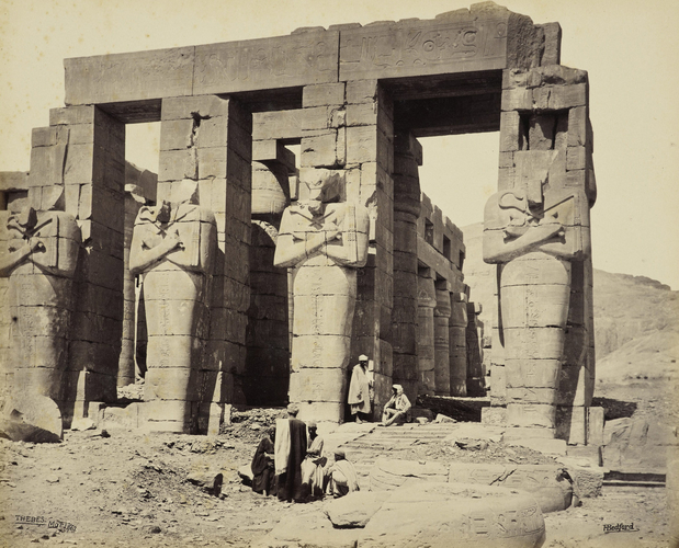 Memnonium - the South Portico, Thebes [Osiride Columns, the Ramesseum, Thebes]
